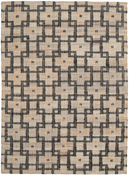 Tudor Rug 140X200 Authentic  Modern Handwoven Light Brown/Dark Grey ( India)