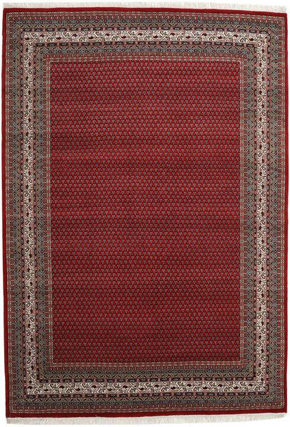Mir Indo Rug 245X350 Authentic  Oriental Handknotted Dark Red/Dark Grey (Wool, India)