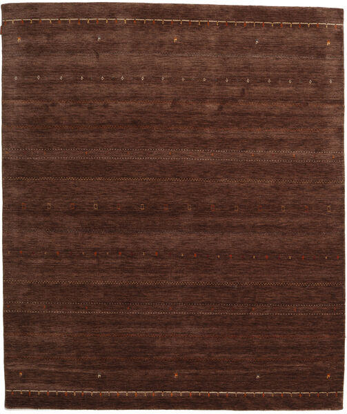 Gabbeh Indo Rug 255X301 Authentic  Modern Handknotted Dark Brown Large (Wool, India)