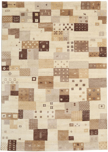 Gabbeh Indo Rug 170X241 Authentic  Modern Handknotted Light Brown/Beige (Wool, India)