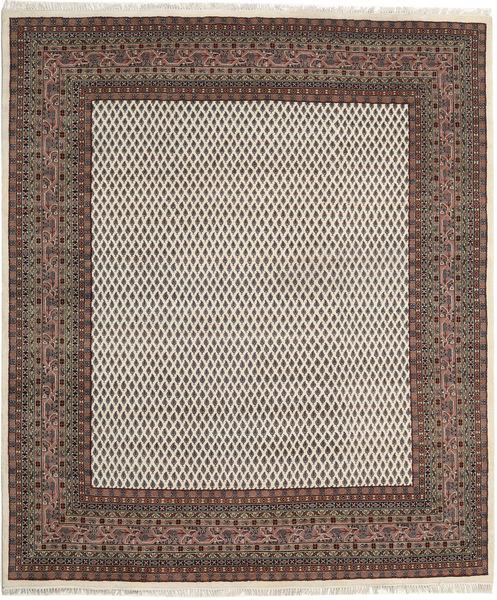 Mir Indo Matto 199X257 Itämainen Käsinsolmittu Vaaleanruskea/Tummanharmaa (Villa, Intia)