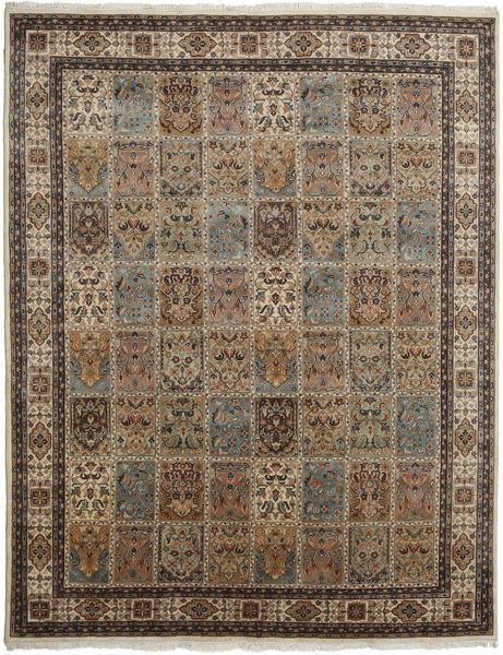 Bakhtiari Indo Rug 252X322 Authentic  Oriental Handknotted Light Brown/Dark Grey/Brown Large (Wool, India)
