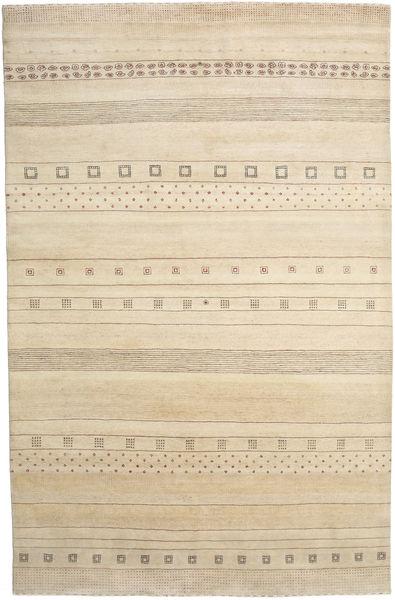 Gabbeh Loribaft Rug 201X310 Authentic  Modern Handknotted Light Brown/Beige (Wool, India)