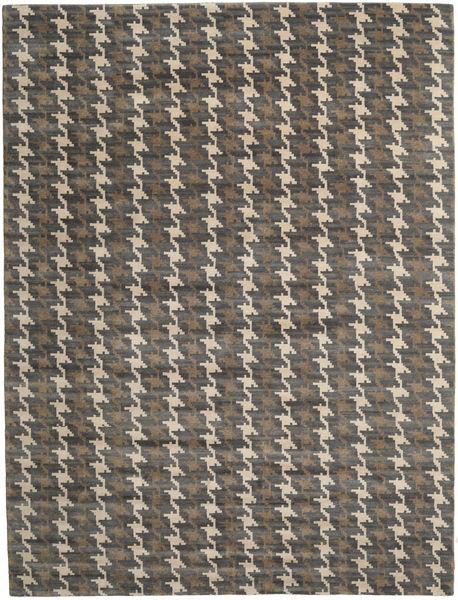 Himalaya Matto 304X401 Moderni Käsinsolmittu Tummanharmaa/Vaaleanruskea Isot (Villa, Intia)