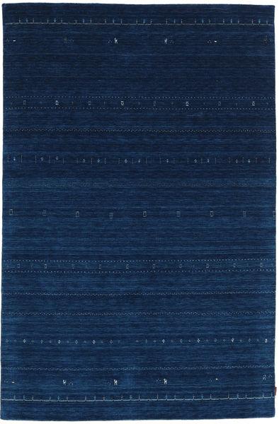 Gabbeh Indo Rug 197X300 Authentic  Modern Handknotted Dark Blue (Wool, India)