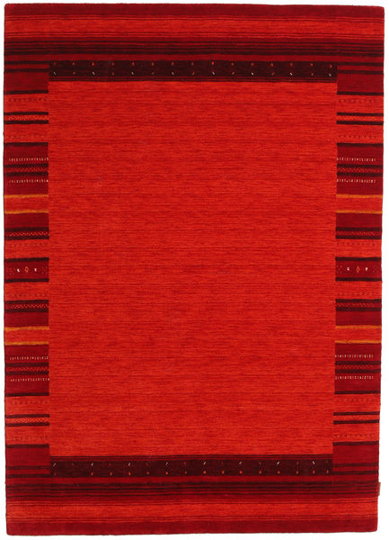Gabbeh Indiai Szőnyeg 172X241 Modern Csomózású Piros/Rozsdaszín (Gyapjú, India)