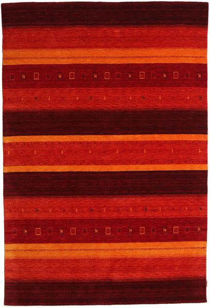 Gabbeh Indisch Teppich  205X304 Echter Moderner Handgeknüpfter Dunkelrot/Rost/Rot (Wolle, Indien)