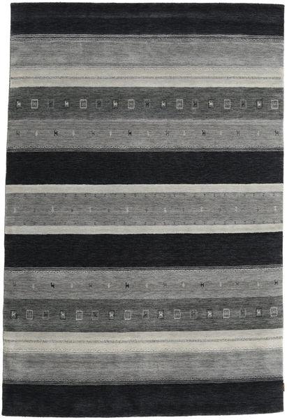 Gabbeh Indisch Teppich  203X303 Echter Moderner Handgeknüpfter Dunkelgrau/Hellgrau (Wolle, Indien)