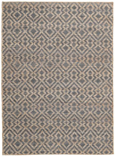 Jute Matto 160X230 Moderni Käsinkudottu Vaaleanruskea/Tummanharmaa ( Intia)