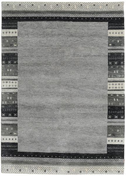 Gabbeh Indo Rug 176X246 Authentic  Modern Handknotted Dark Grey/Light Grey (Wool, India)