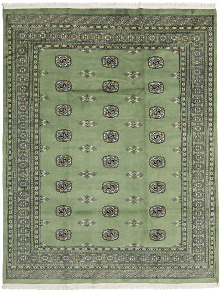 Pakistan Bokhara 2Ply Rug 201X258 Authentic  Oriental Handknotted Light Grey/Olive Green (Wool, Pakistan)