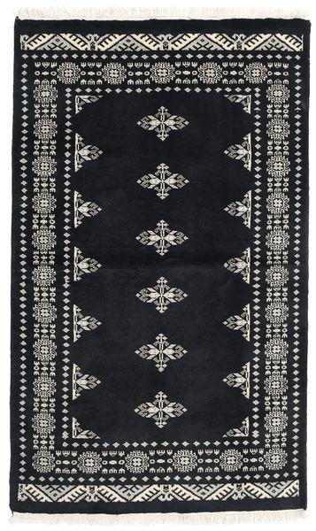 Pakistan Bokhara 3Ply Matto 94X157 Itämainen Käsinsolmittu Tummanharmaa (Villa, Pakistan)