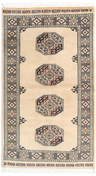 Pakistan Bokhara 3Ply Rug 91X158 Authentic  Oriental Handknotted Beige/Dark Grey (Wool, Pakistan)