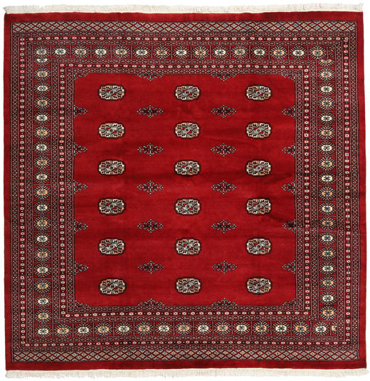 Pakistan Bokhara 2Ply Rug 205X209 Authentic  Oriental Handknotted Square Crimson Red/Dark Red (Wool, Pakistan)