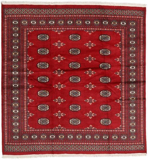 Pakistan Bokhara 2Ply Matto 202X208 Itämainen Käsinsolmittu Neliö Punainen/Tummanpunainen (Villa, Pakistan)