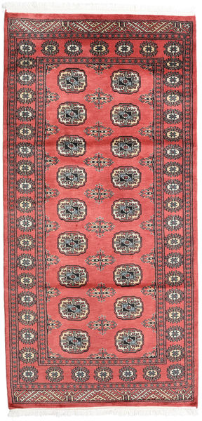 Pakistan Bokhara 2Ply Rug 99X205 Authentic  Oriental Handknotted Crimson Red/Dark Red (Wool, Pakistan)
