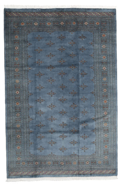 Pakistan Bokhara 3Ply Rug 198X300 Authentic  Oriental Handknotted Dark Blue/Dark Grey (Wool, Pakistan)