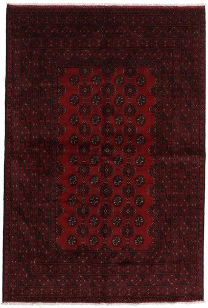 Afghan Rug 162X241 Authentic  Oriental Handknotted Dark Brown/Dark Red (Wool, Afghanistan)
