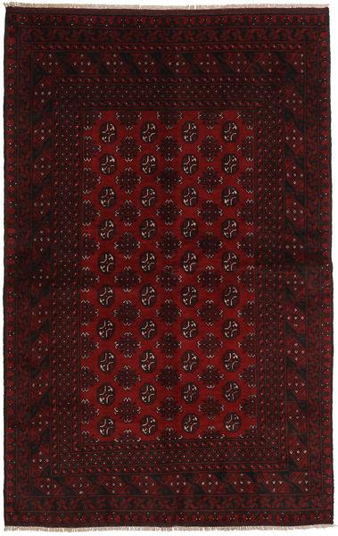 Afgan Dywan 154X244 Orientalny Tkany Ręcznie Ciemnoczerwony (Wełna, Afganistan)