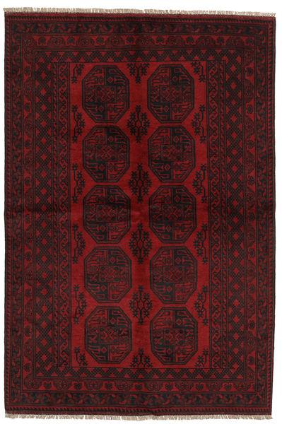 Afghan Rug 159X234 Authentic  Oriental Handknotted Dark Brown/Dark Red (Wool, Afghanistan)