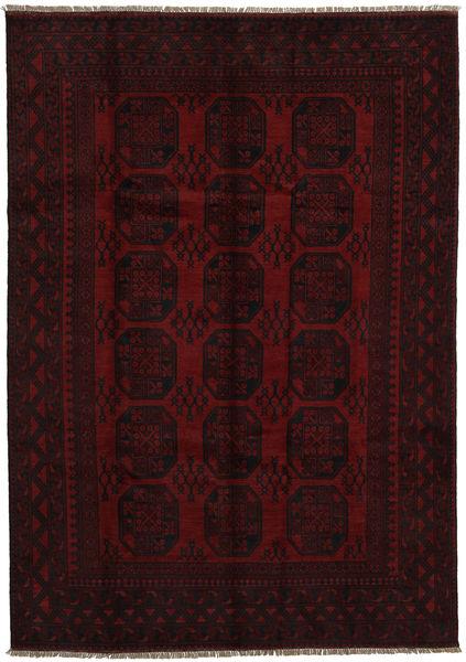 Afghan Rug 197X278 Authentic  Oriental Handknotted Dark Red (Wool, Afghanistan)