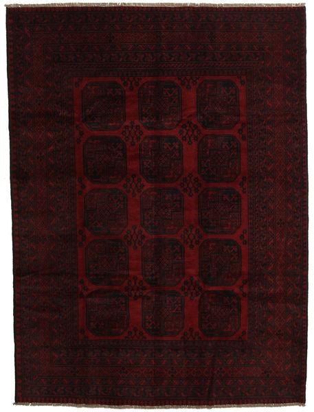 Afgan Dywan 203X278 Orientalny Tkany Ręcznie Ciemnobrązowy/Ciemnoczerwony (Wełna, Afganistan)