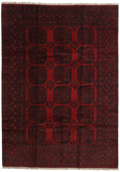 アフガン 絨毯 200X279 オリエンタル 手織り 深紅色の (ウール, アフガニスタン)