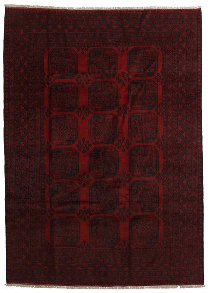 アフガン 絨毯 201X280 オリエンタル 手織り 濃い茶色/深紅色の (ウール, アフガニスタン)