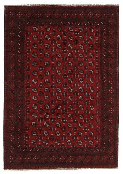 Afghan Rug 199X284 Authentic  Oriental Handknotted Dark Brown/Dark Red (Wool, Afghanistan)