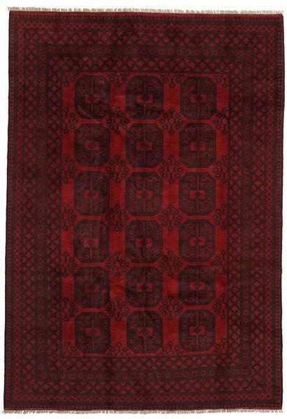 アフガン 絨毯 197X284 オリエンタル 手織り 深紅色の (ウール, アフガニスタン)