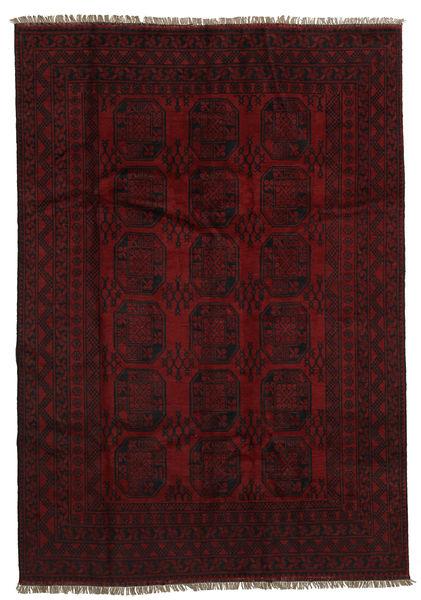 Afghan Rug 194X279 Authentic  Oriental Handknotted Dark Brown/Dark Red (Wool, Afghanistan)