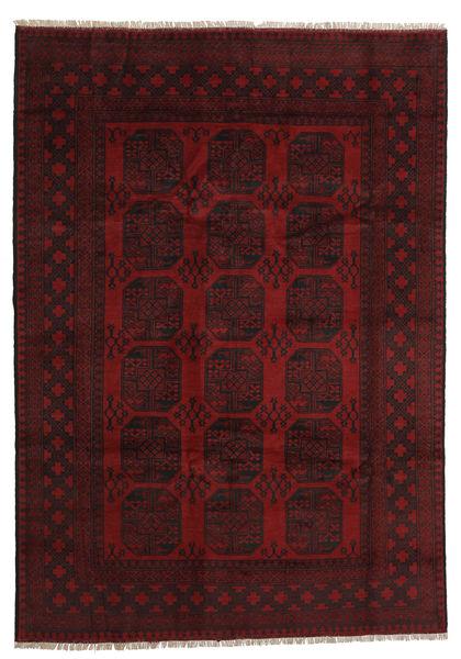 Afghan Rug 197X281 Authentic  Oriental Handknotted Dark Red (Wool, Afghanistan)