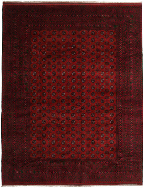 Afghan Rug 313X398 Authentic  Oriental Handknotted Dark Brown/Dark Red Large (Wool, Afghanistan)