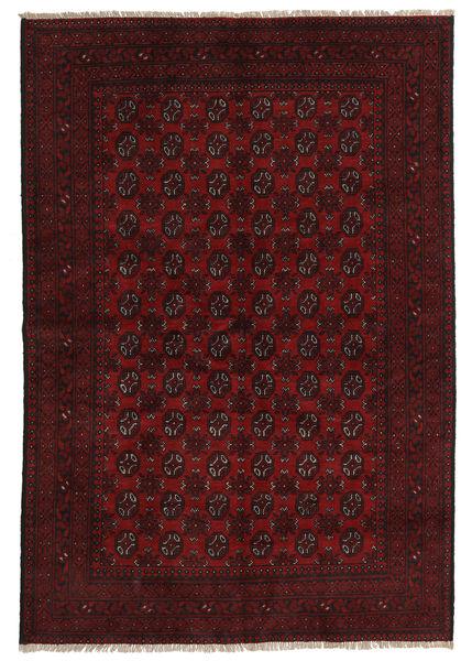 Afghan Rug 161X237 Authentic  Oriental Handknotted Dark Brown/Dark Red (Wool, Afghanistan)