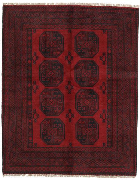 アフガン 絨毯 150X189 オリエンタル 手織り 深紅色の/濃い茶色 (ウール, アフガニスタン)