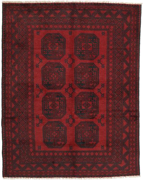 Afgan Dywan 148X190 Orientalny Tkany Ręcznie Ciemnoczerwony/Ciemnobrązowy (Wełna, Afganistan)