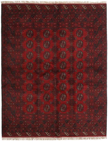 Afghan Rug 150X190 Authentic  Oriental Handknotted Dark Red (Wool, Afghanistan)