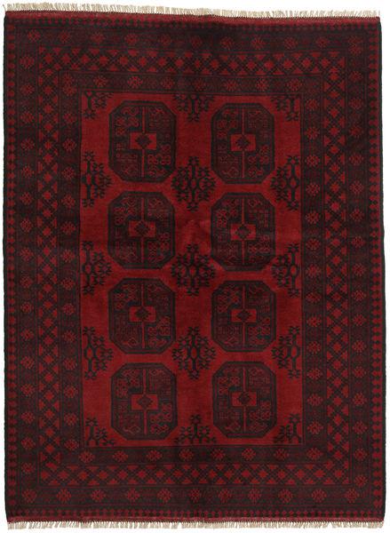 Afgan Dywan 147X195 Orientalny Tkany Ręcznie Ciemnobrązowy/Ciemnoczerwony (Wełna, Afganistan)