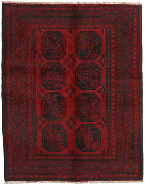 Afghan Rug 147X188 Authentic  Oriental Handknotted Dark Red/Dark Brown (Wool, Afghanistan)