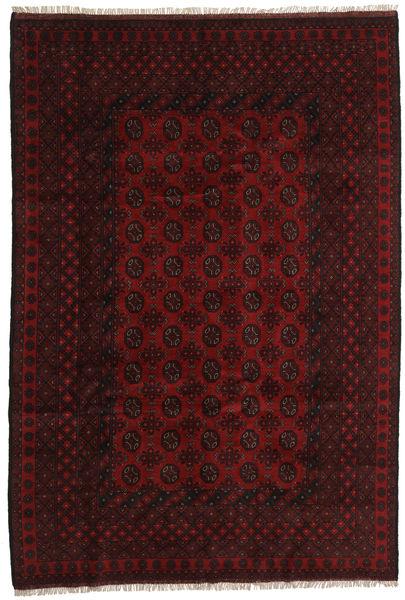 アフガン 絨毯 196X288 オリエンタル 手織り 深紅色の (ウール, アフガニスタン)