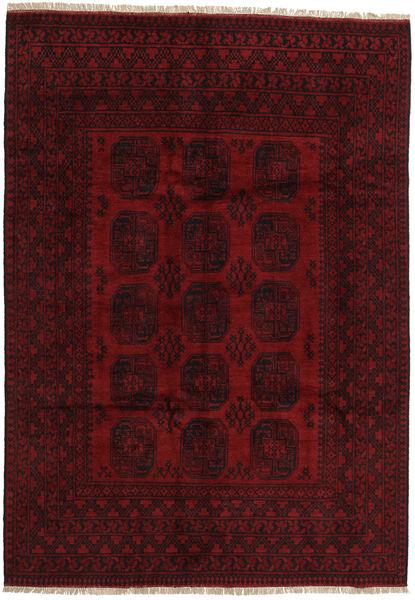 Afghan Rug 199X282 Authentic  Oriental Handknotted Dark Red (Wool, Afghanistan)