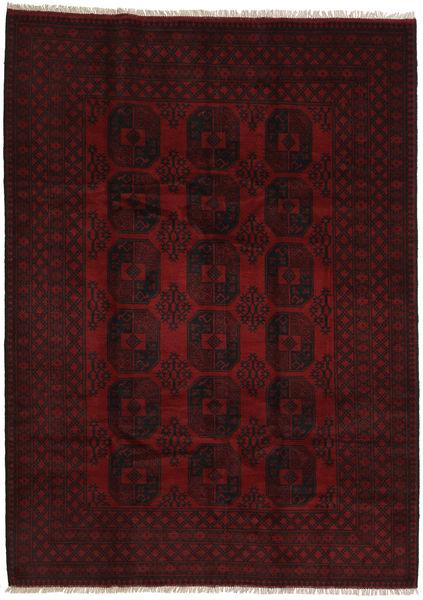 Afgan Dywan 208X287 Orientalny Tkany Ręcznie Ciemnoczerwony (Wełna, Afganistan)