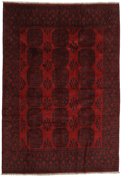 Afghan Rug 200X287 Authentic  Oriental Handknotted Dark Red (Wool, Afghanistan)