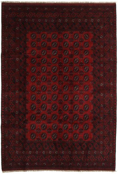 Afghan Rug 197X285 Authentic  Oriental Handknotted Dark Brown/Dark Red (Wool, Afghanistan)