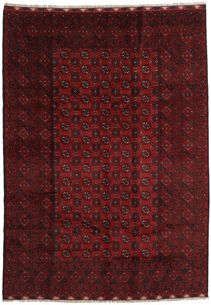 Afghan Rug 202X283 Authentic  Oriental Handknotted Dark Red (Wool, Afghanistan)