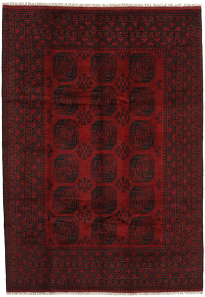 Afghan Rug 203X290 Authentic  Oriental Handknotted Dark Red/Dark Brown (Wool, Afghanistan)