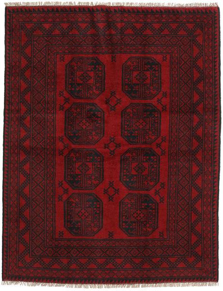 Afgan Dywan 147X190 Orientalny Tkany Ręcznie Ciemnoczerwony/Ciemnobrązowy (Wełna, Afganistan)