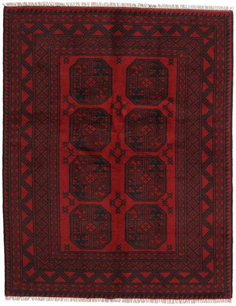 Afgan Dywan 150X192 Orientalny Tkany Ręcznie Ciemnobrązowy/Ciemnoczerwony (Wełna, Afganistan)