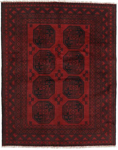 アフガン 絨毯 147X188 オリエンタル 手織り 深紅色の/濃い茶色 (ウール, アフガニスタン)