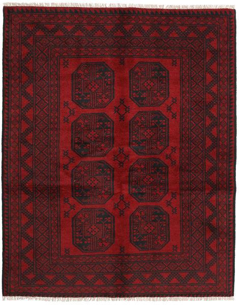 Afgan Dywan 150X190 Orientalny Tkany Ręcznie Ciemnoczerwony/Ciemnobrązowy (Wełna, Afganistan)